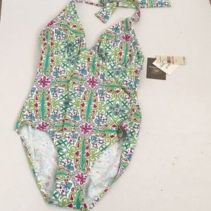 NWT Tommy Bahama Floral One Piece Swimsuit Sz 10